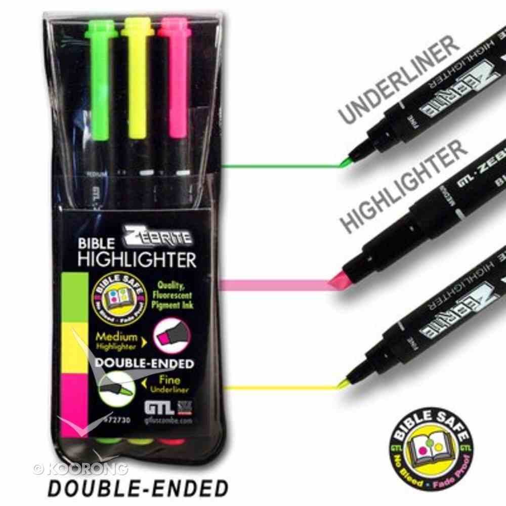 Highlighter: Zebrite Set of 3 Stationery