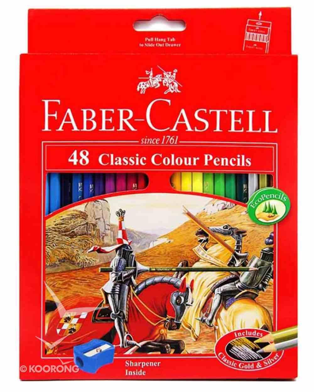 Faber-Castell Classic Colour Pencils Set of 48 + Bonus Sharpener Stationery