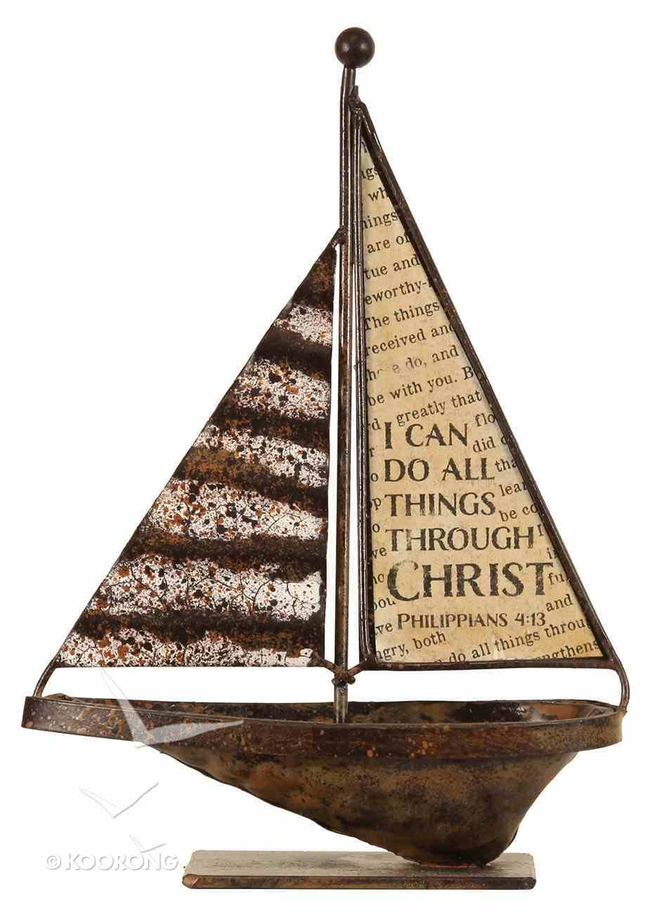 Sailboat Tabletop: I Can Do All Things (Phil 4:13) Homeware