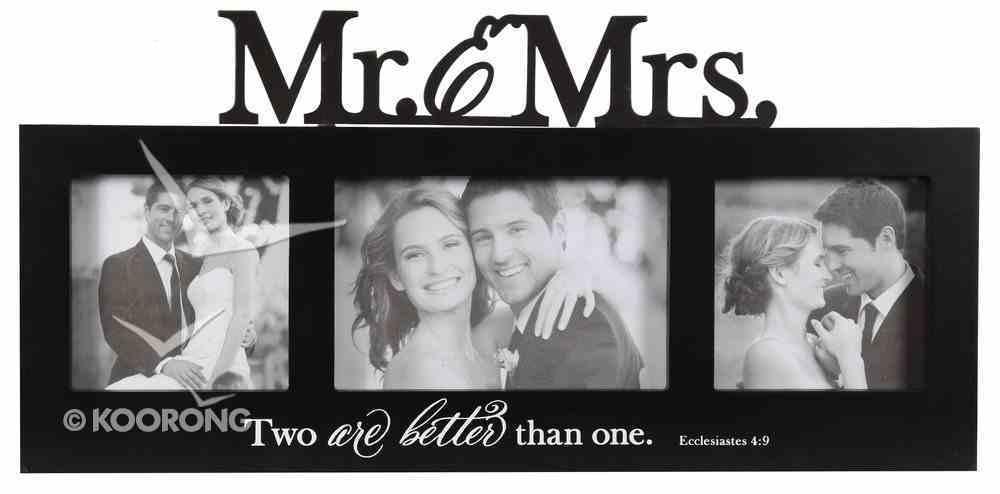 Wall Photo Frame: Mr & Mrs, Black/White (Ecc 4:9) Homeware