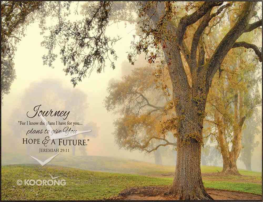 Mounted Print: Oak Grove, For I Know the Plans I Have For You Jeremiah 29:11, on Mdf Board Plaque