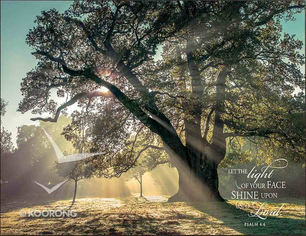 Mounted Print: Breaking Through, Let the Light Shine on Your Face Plaque
