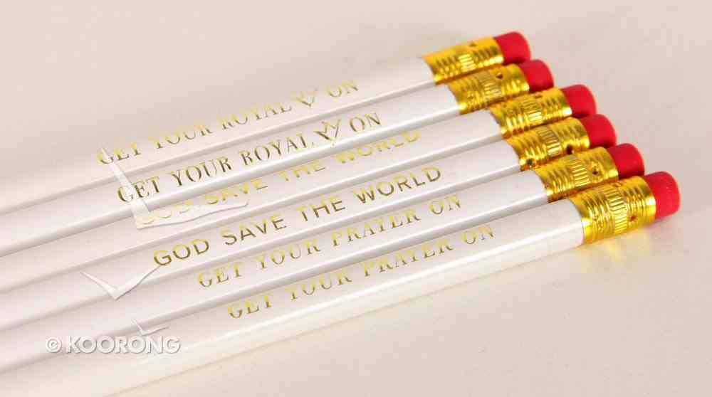 Box Set of 6 Pencils With Text Stationery