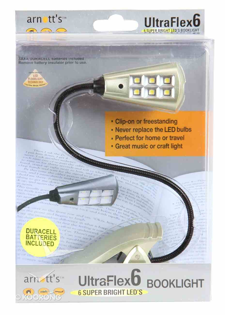 Ultraflex6 Booklight With 6 Super Bright Led's Silver Novelty