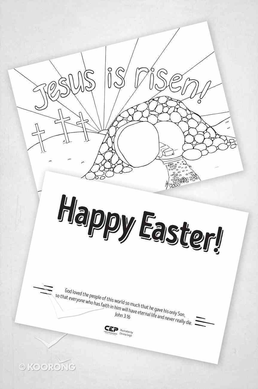 Easter Gift Cards to Colour in (Pack Of 30) Cards
