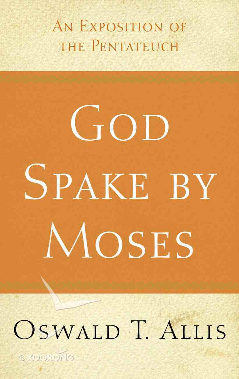 God Spake By Moses Paperback