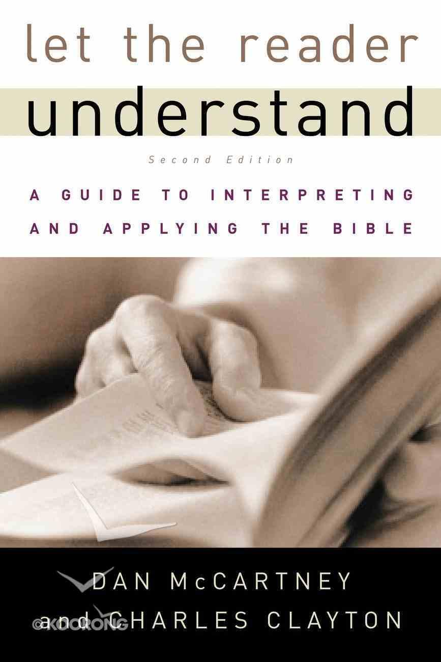 Let the Reader Understand Paperback