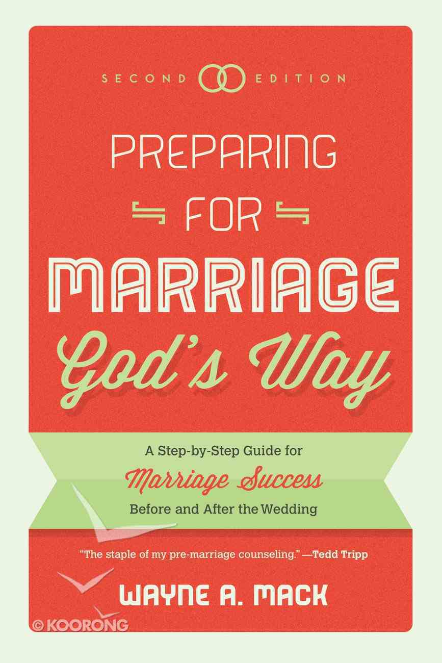 Preparing For Marriage God's Way Paperback