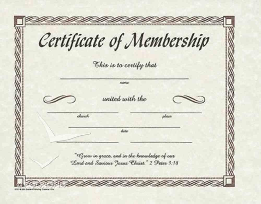 Certificate of Membership (12 Pack) Stationery