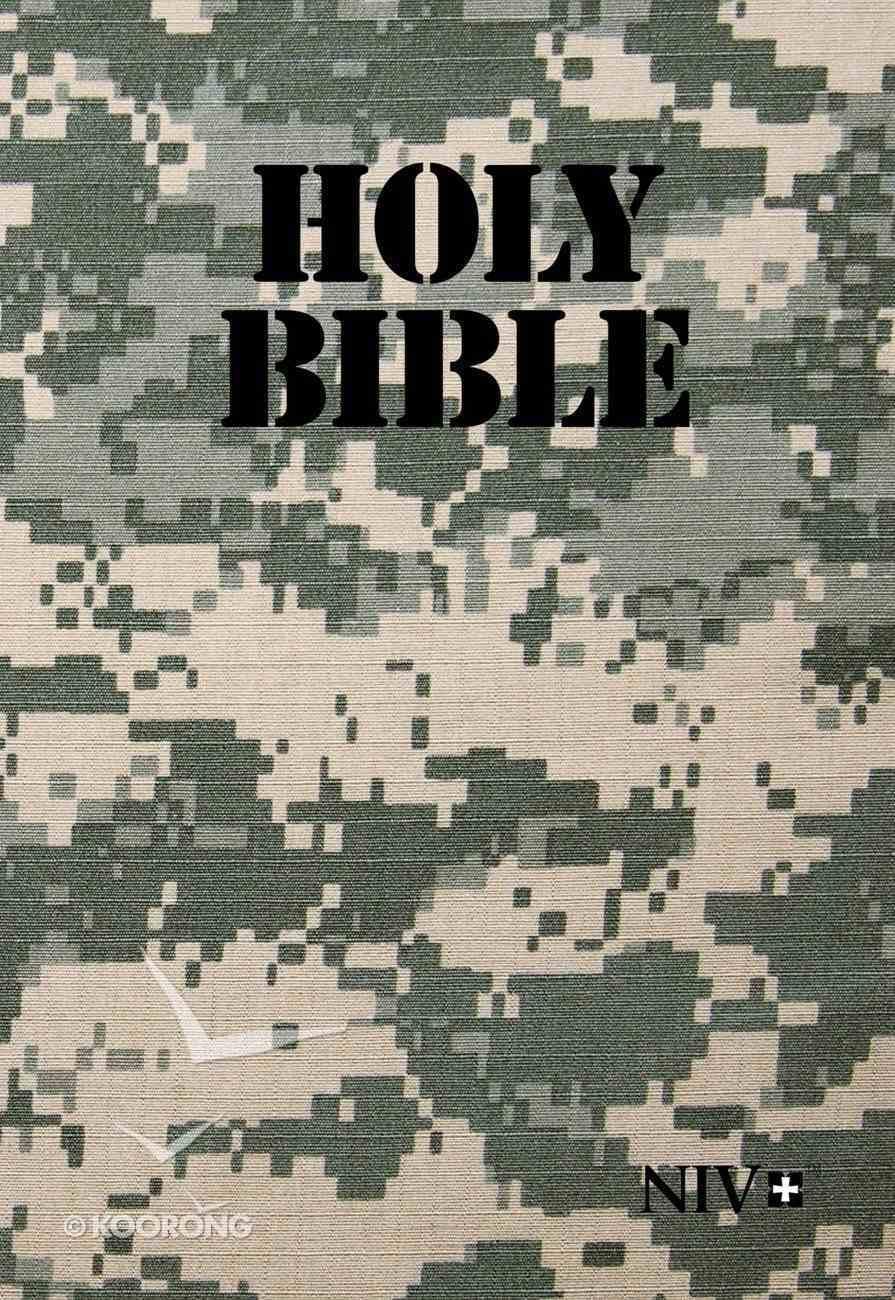 NIV Holy Bible Military Edition Digi Camo Paperback (Black Letter Edition) Paperback