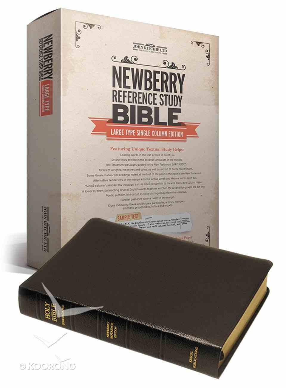 KJV Newberry Reference Study Bible Genuine Leather