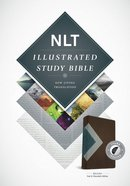 NLT Illustrated Study Bible Teal/Chocolate Indexed (Black Letter Edition) Imitation Leather