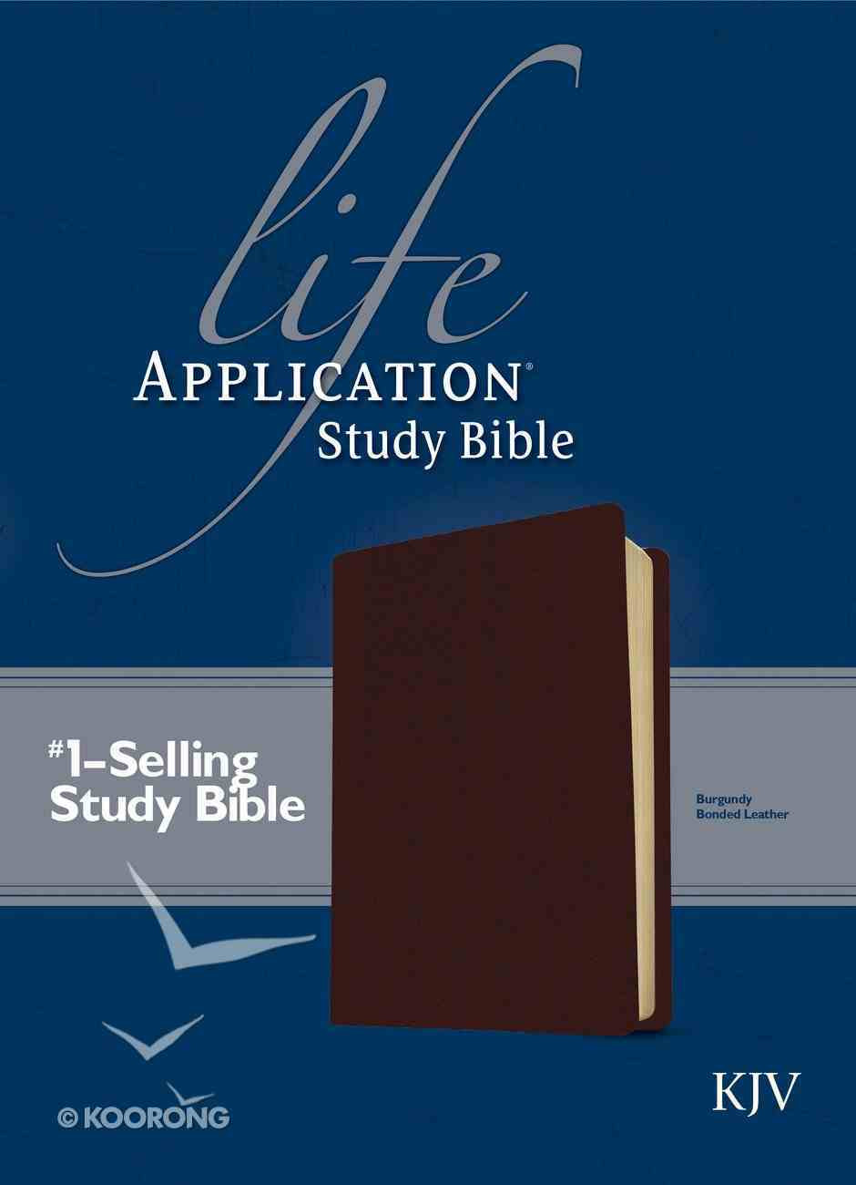 KJV Life Application Study Bible Burgundy 2nd Edition (Red Letter Edition) Bonded Leather