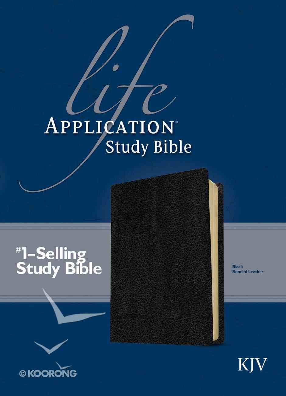 KJV Life Application Study Bible Black 2nd Edition (Red Letter Edition) Bonded Leather