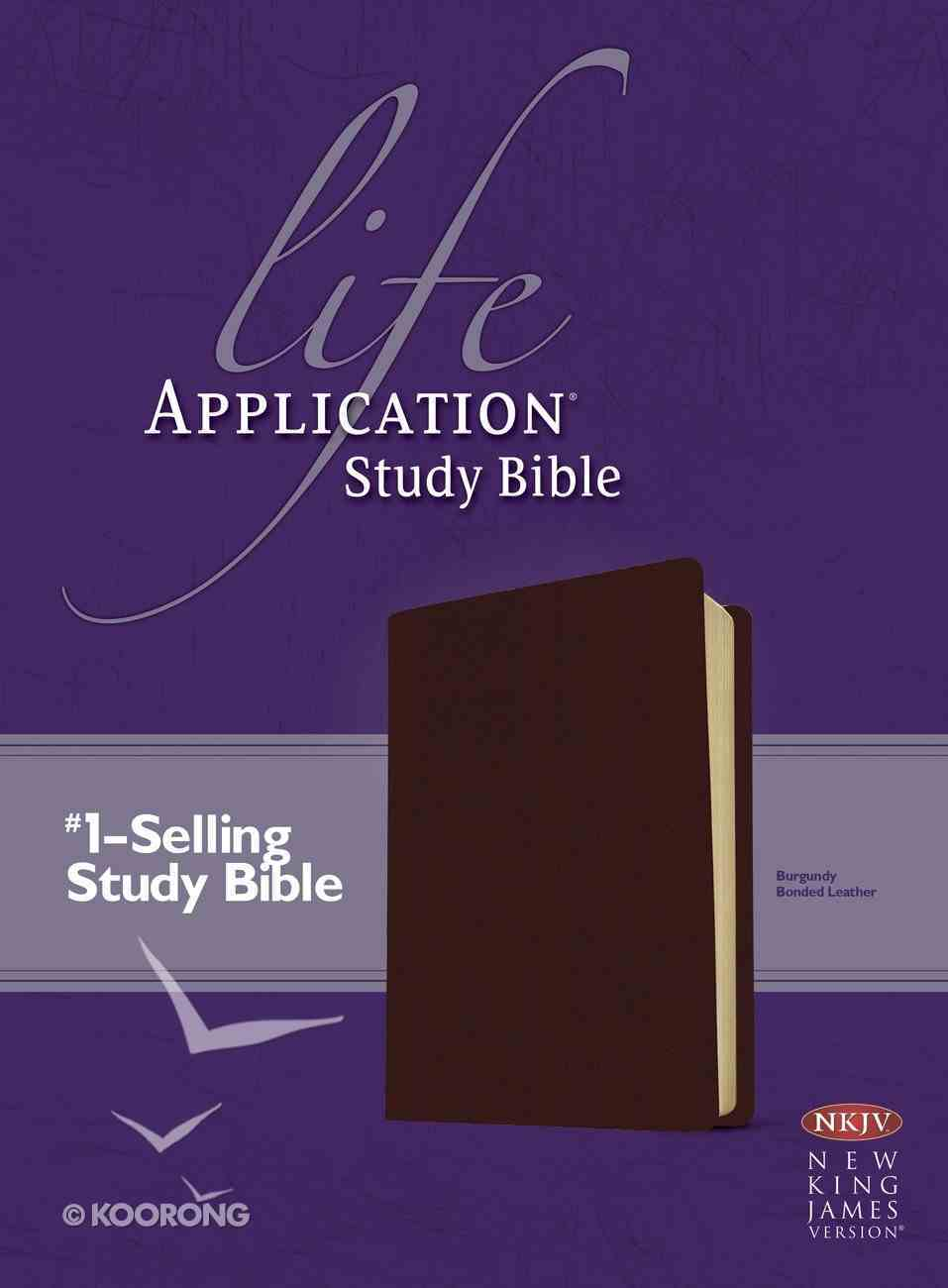 NKJV Life Application Study Bible 2nd Edition Burgundy (Red Letter Edition) Bonded Leather