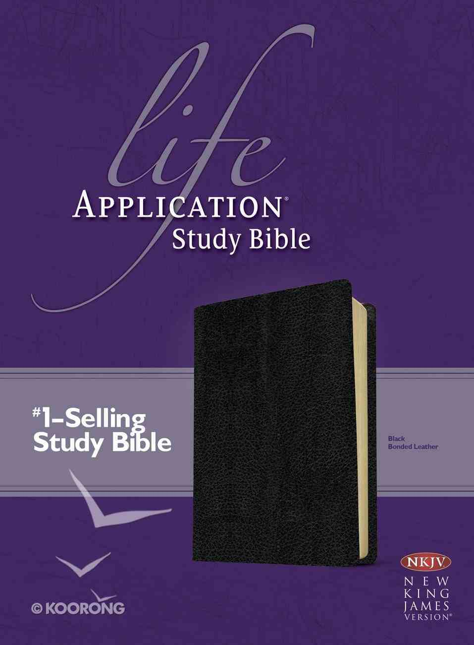 NKJV Life Application Bible 2nd Edition Black (Red Letter Edition) Bonded Leather