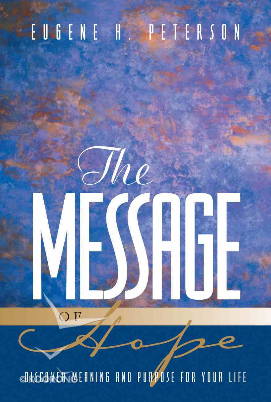 Message of Hope, the (Black Letter Edition) (Includes Mark, Several Epistles And Some Psalms) Paperback