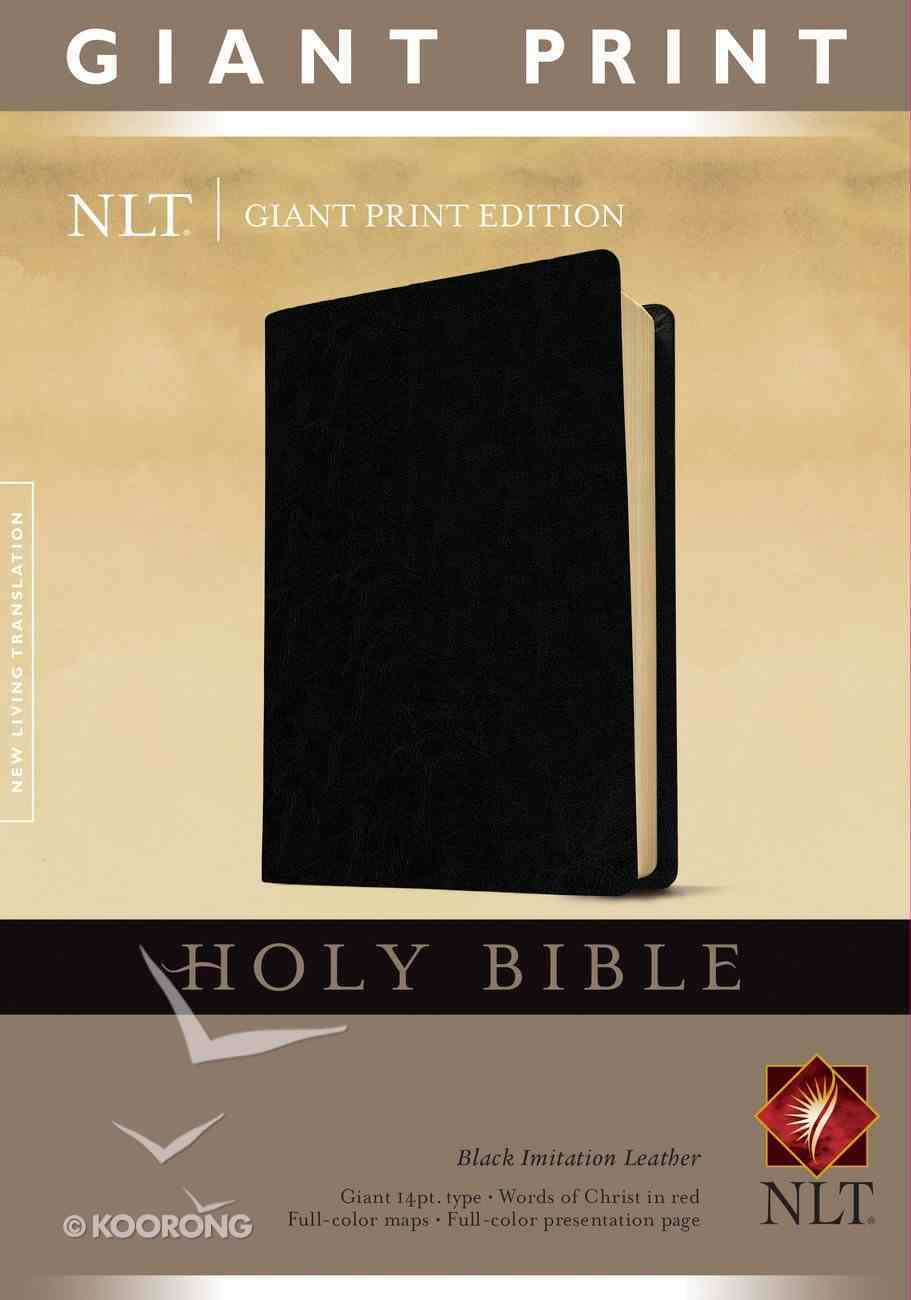 NLT Holy Bible Giant Print Edition Black (Red Letter Edition) Imitation Leather