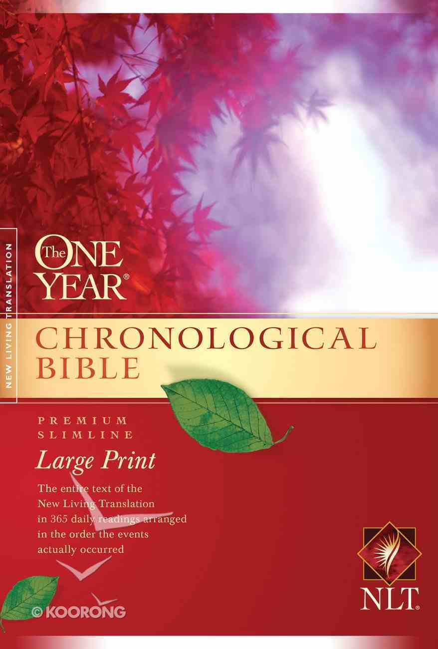 NLT One Year Chronological Large Print (Black Letter Edition) Paperback