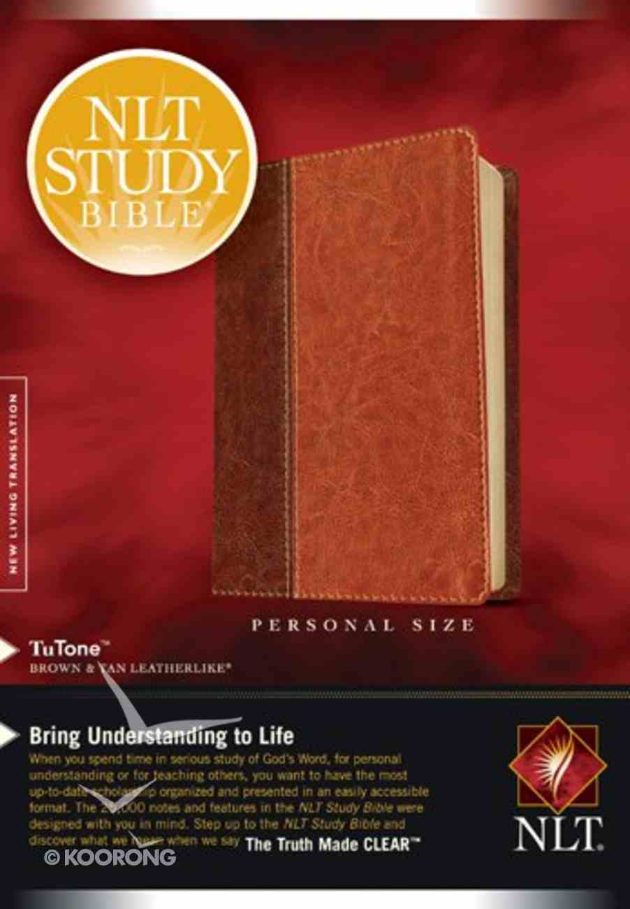 NLT Study Bible Personal Brown/Tan (Black Letter Edition) Imitation Leather