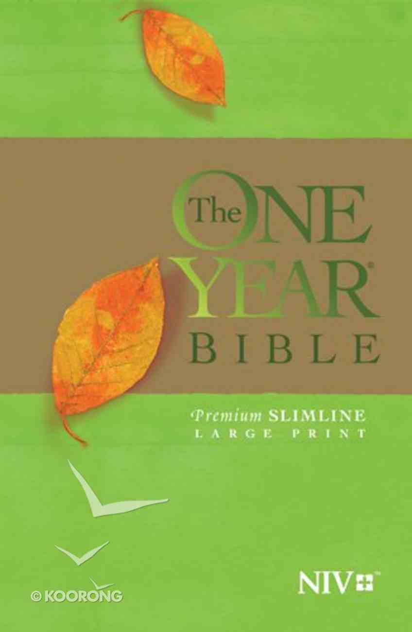 NIV One Year Bible Premium Slimline Large Print (Black Letter Edition) Paperback