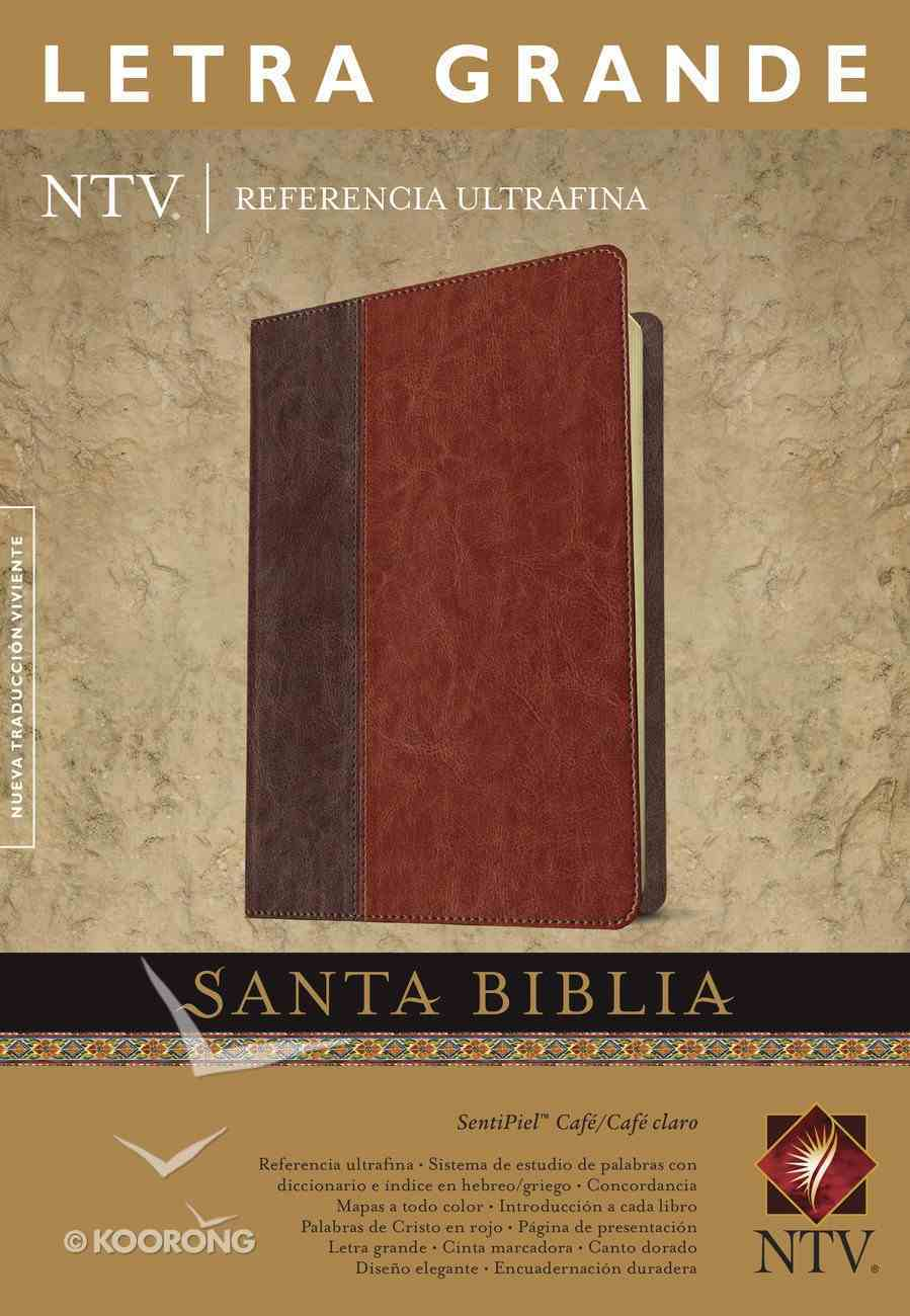 Ntv Referencia Ultrafina Letra Grande Brown/Tan Large Print (Red Letter Edition) Imitation Leather