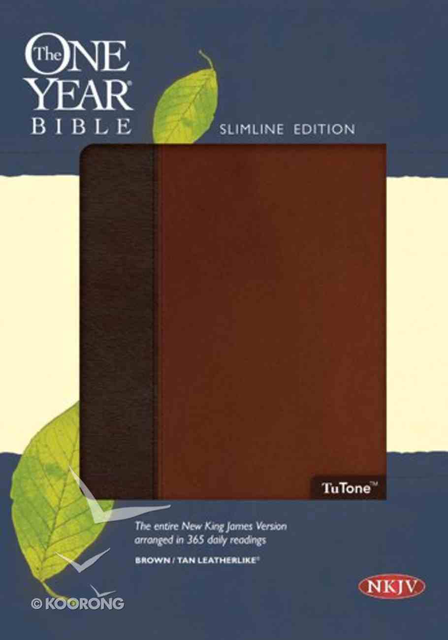 NKJV One Year Bible Brown/Tan (Black Letter Edition) Imitation Leather