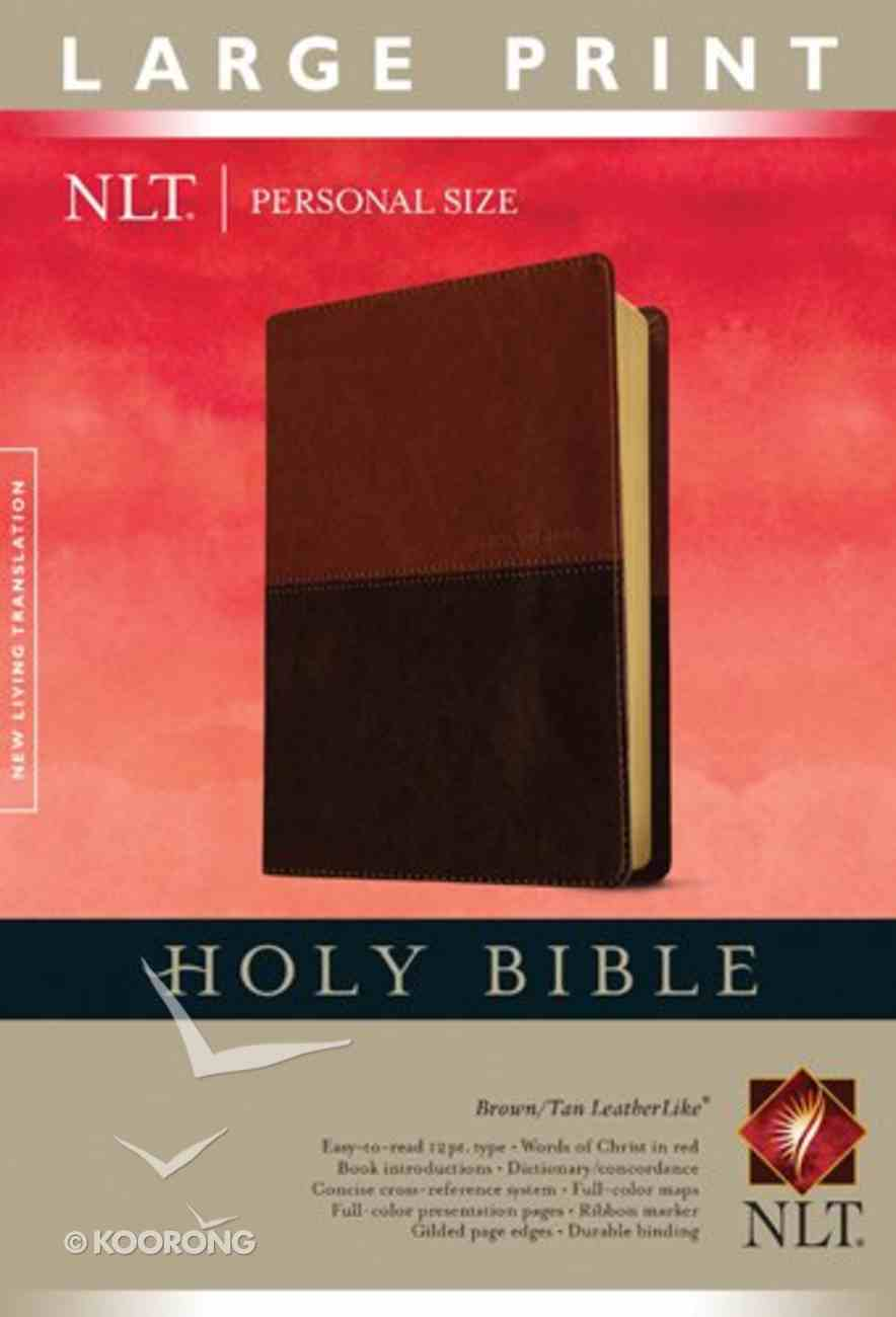 NLT Personal Size Large Print Bible Brown/Tan (Red Letter Edition) Imitation Leather