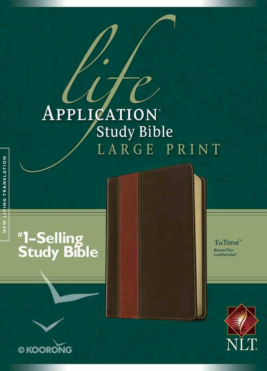 NLT Life Application Study Bible Large Print Brown/Tan (Red Letter Edition) Imitation Leather