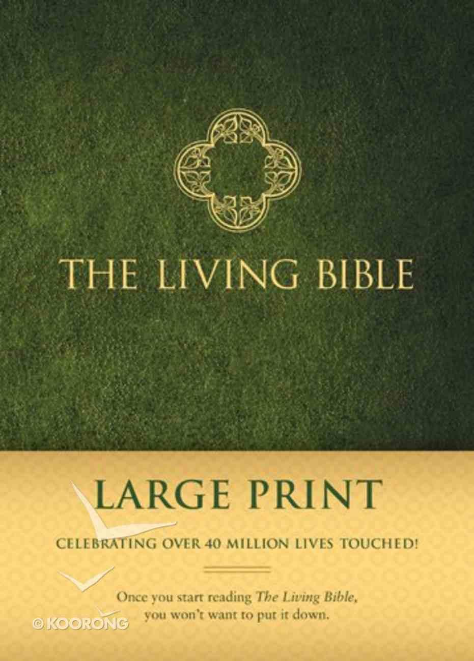Lbp Living Bible Large Print Green (Black Letter Edition) Padded Hardback