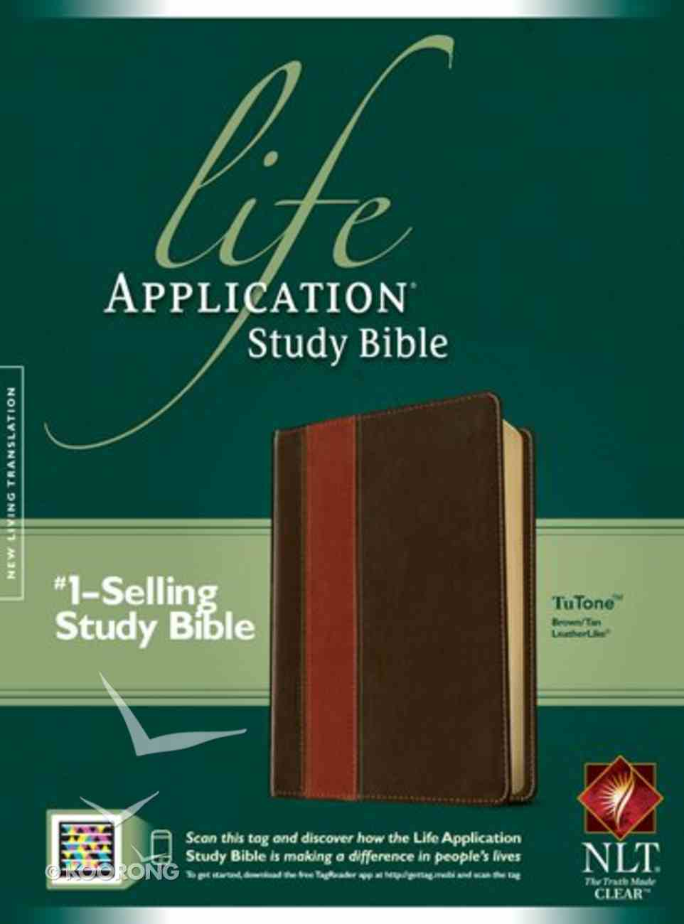 NLT Life Application Study Bible Brown/Tan (Red Letter Edition) Imitation Leather