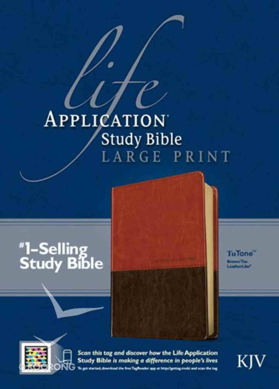 KJV Life Application Large Print Study Bible Brown/Tan (Red Letter Edition) Imitation Leather
