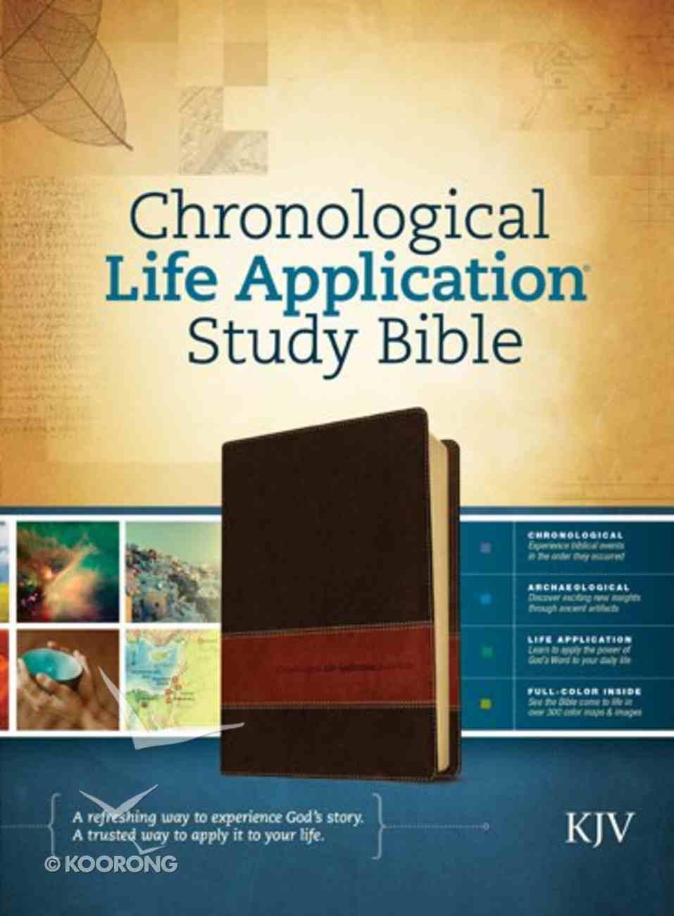 KJV Chronological Life Application Study Bible Brown/Tan Imitation Leather