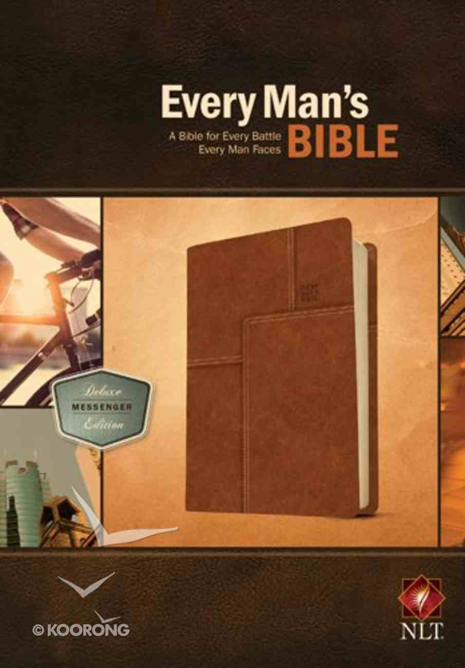 NLT Every Man's Bible Deluxe Messenger Edition Layered Brown (Black Letter Edition) Imitation Leather