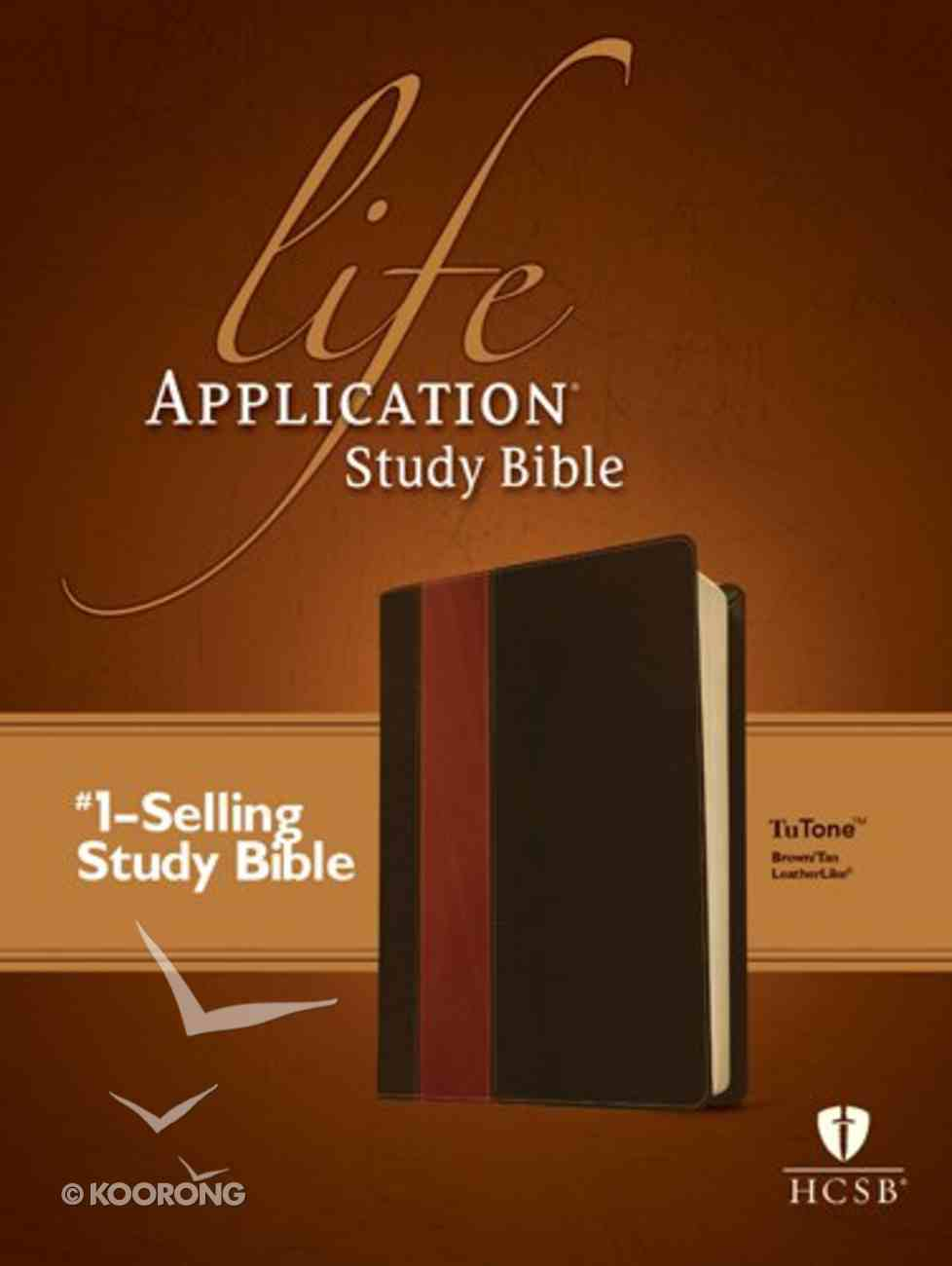 HCSB Life Application Study Bible 2nd Edition Brown/Tan (Red Letter Edition) Imitation Leather