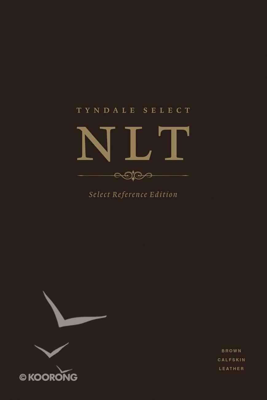 NLT Select Reference Edition Brown (Black Letter Edition) Genuine Leather