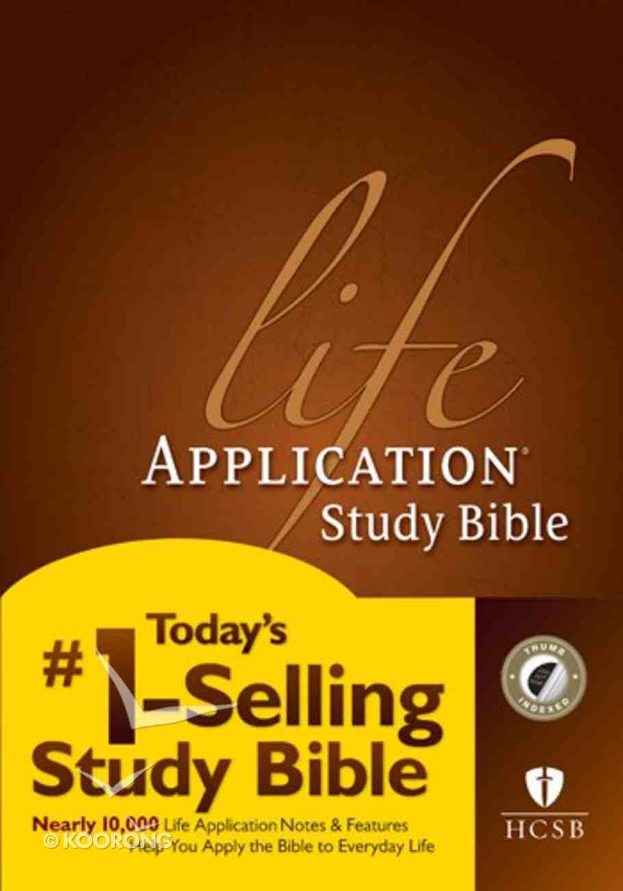 HCSB Life Application Study Indexed Bible (Red Letter Edition) Hardback