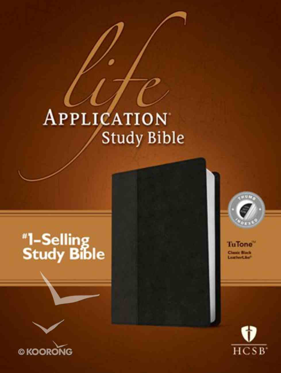 HCSB Life Application Study Indexed Bible Black (Red Letter Edition) Imitation Leather