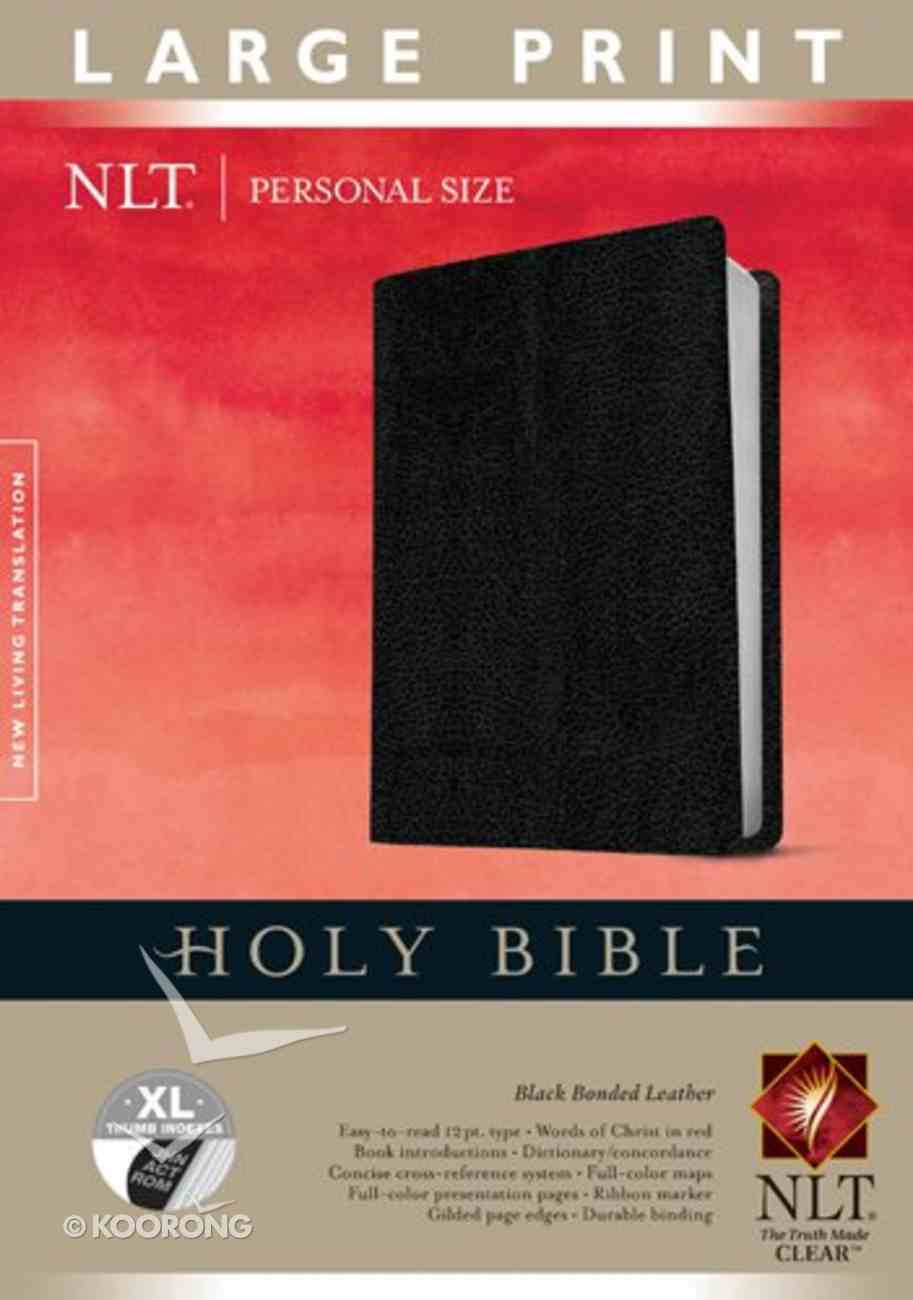 NLT Personal Size Bible Indexed Large Print Edition (Red Letter Edition) Bonded Leather