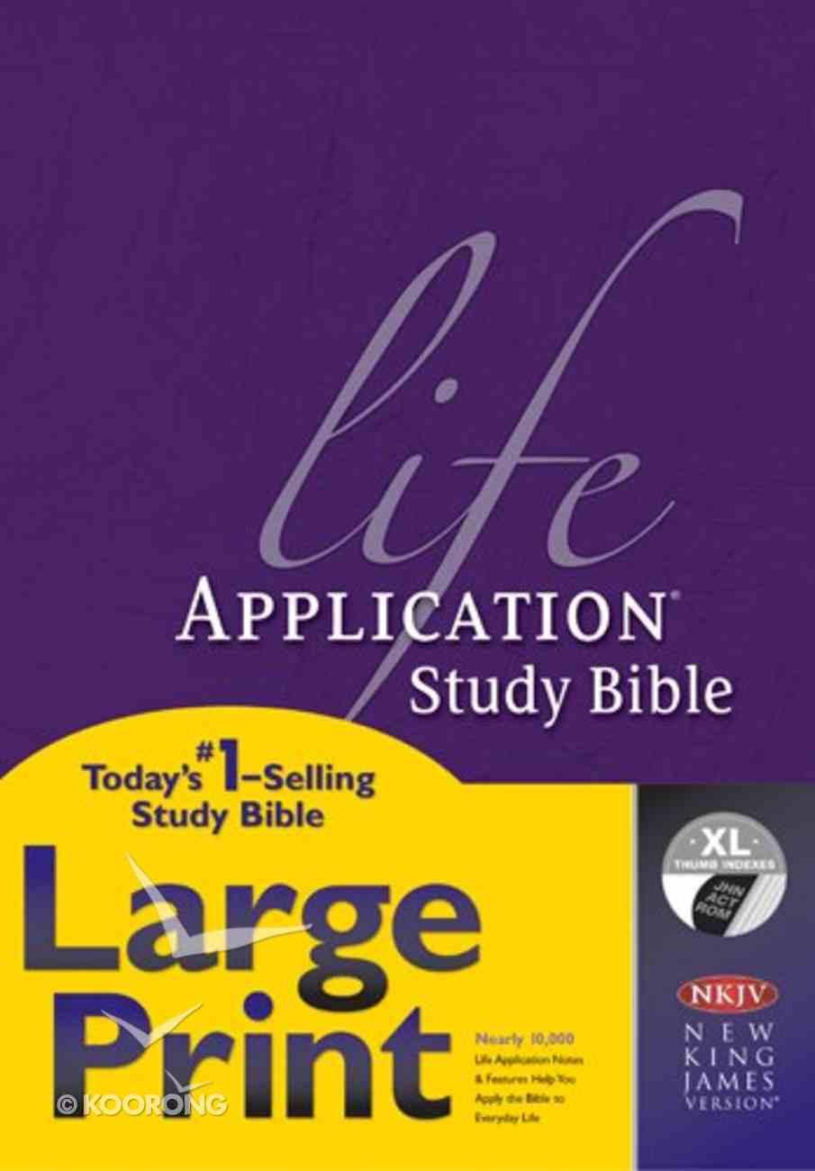NKJV Life Application Study Bible Large Print Indexed 2nd Edition (Red Letter Edition) Hardback