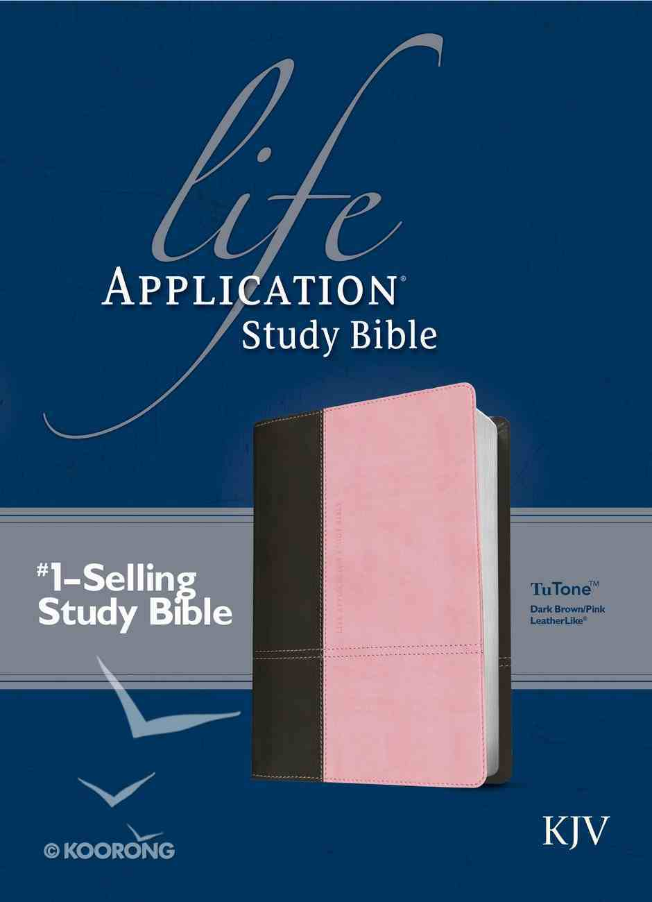 KJV Life Application Study Bible Dark Brown/Pink (Red Letter Edition) Imitation Leather