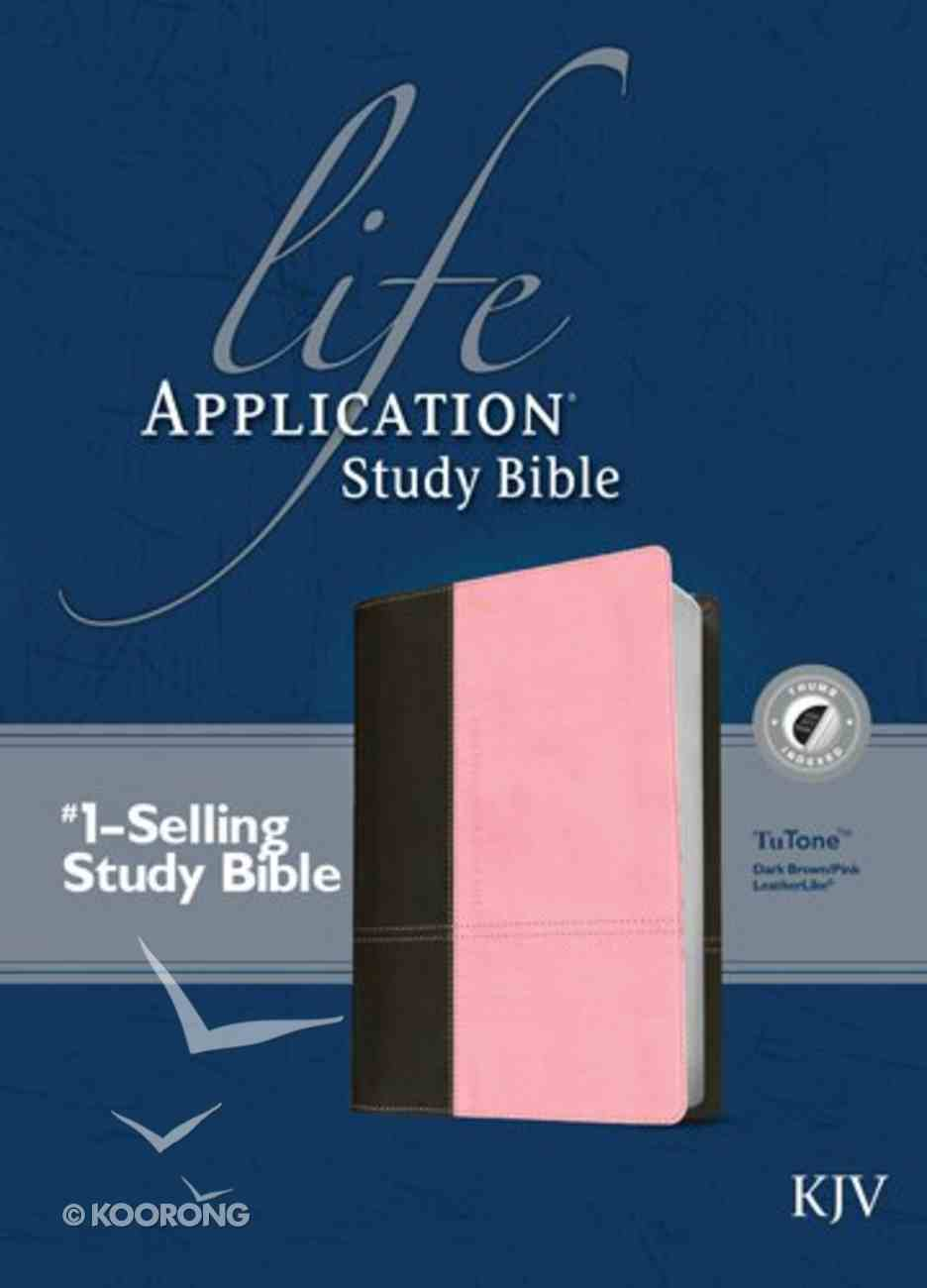 KJV Life Application Study Bible Indexed Dark Brown/Pink (Red Letter Edition) Imitation Leather