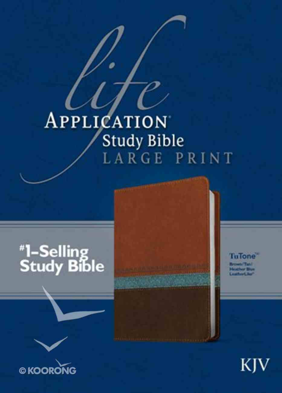 KJV Life Application Study Bible Large Print Brown/Tan/Heather Blue (Red Letter Edition) Imitation Leather