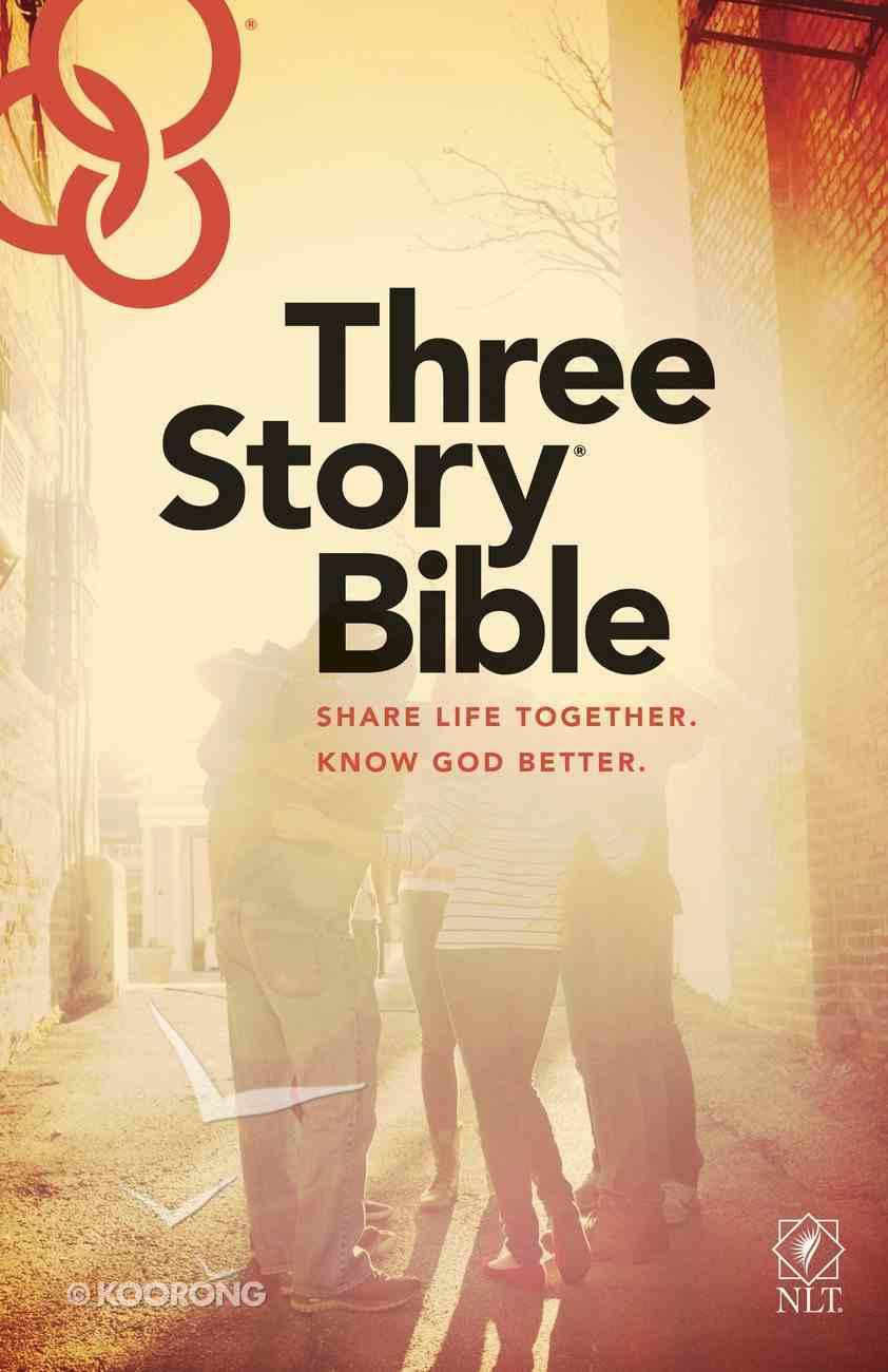 NLT Three Story Bible (Black Letter Edition) Hardback