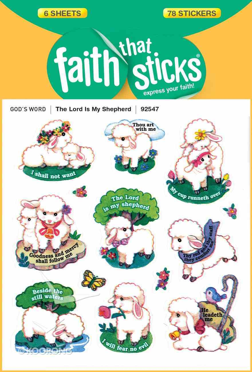 The Lord is My Shepherd (6 Sheets, 78 Stickers) (Stickers Faith That Sticks Series) Stickers