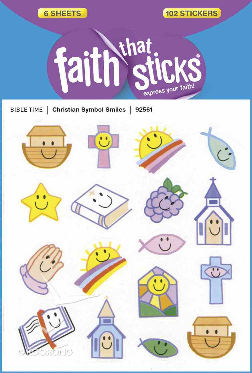 Christian Symbol Smiles (6 Sheets, 102 Stickers) (Stickers Faith That Sticks Series) Stickers