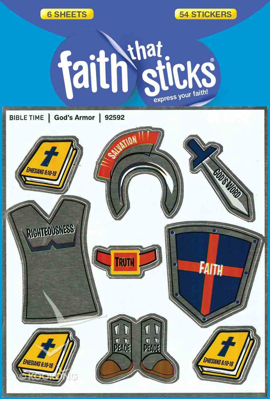 Sfts: God's Armor (6 Sheets, 54 Stickers) Stickers