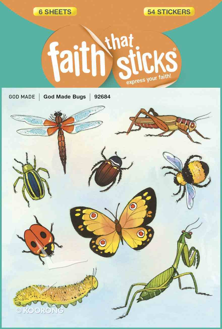 Sfts: God Made Bugs (6 Sheets, 54 Stickers) Stickers