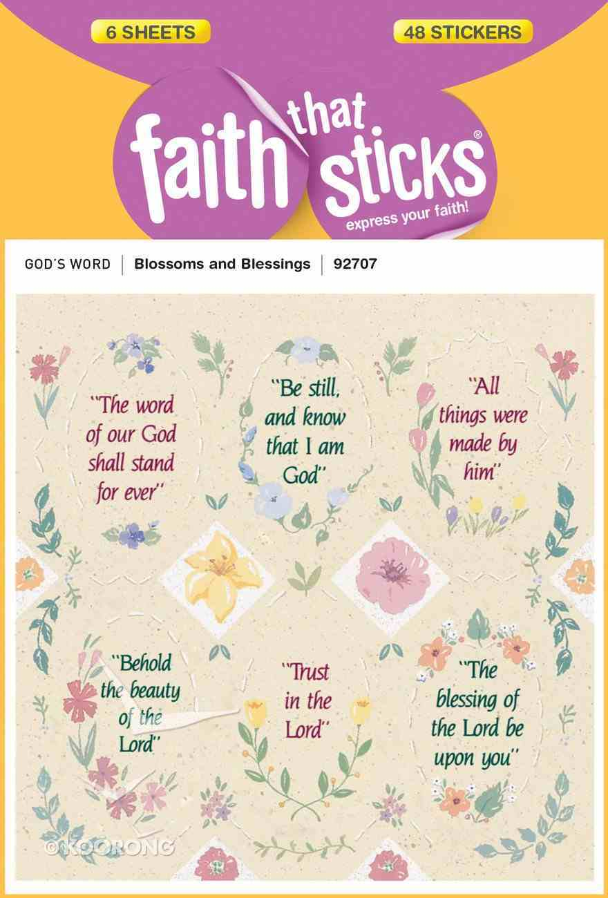 Blossoms & Blessings (6 Sheets, 48 Stickers) (Stickers Faith That Sticks Series) Stickers