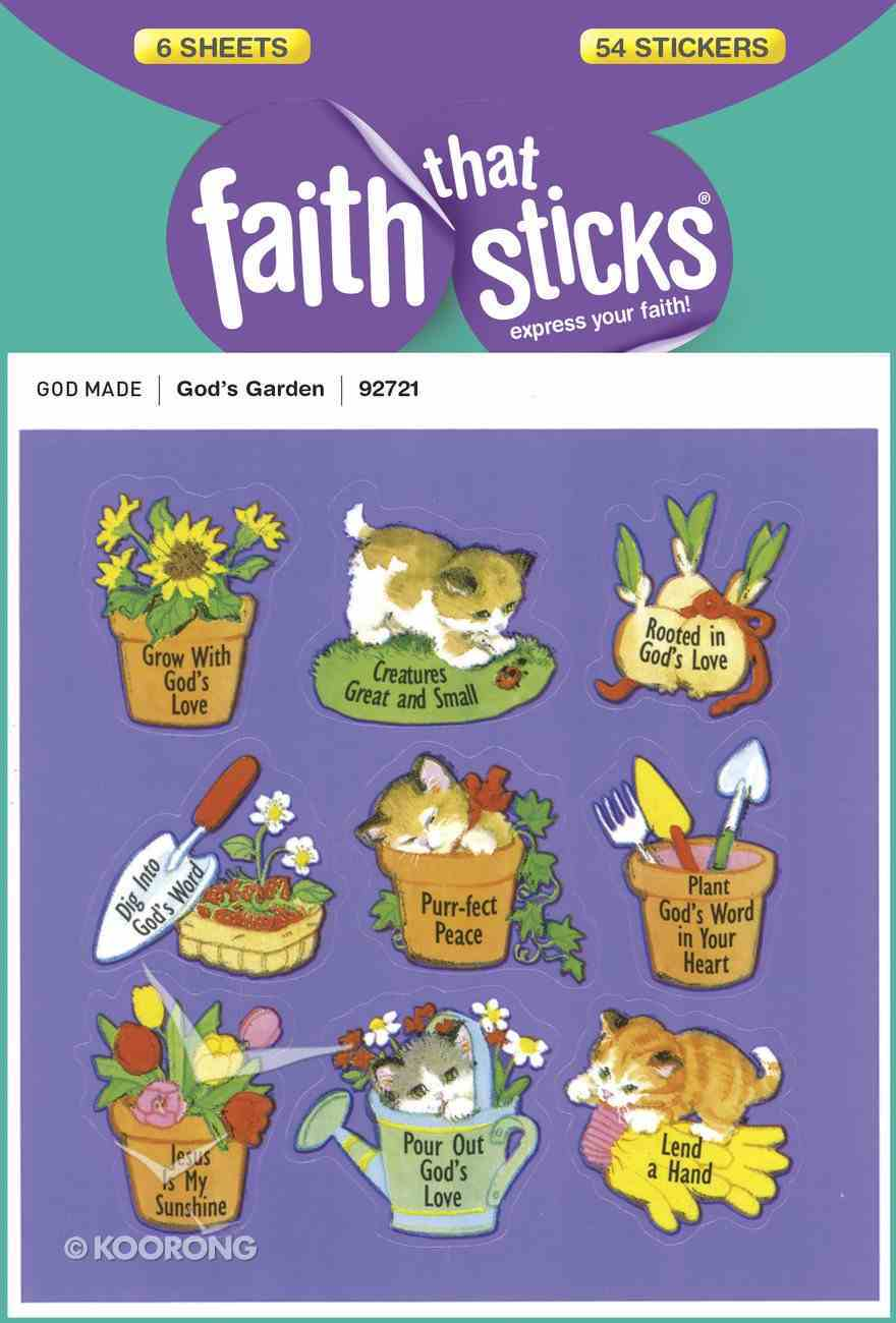 God's Garden (6 Sheets, 54 Stickers) (Stickers Faith That Sticks Series) Stickers